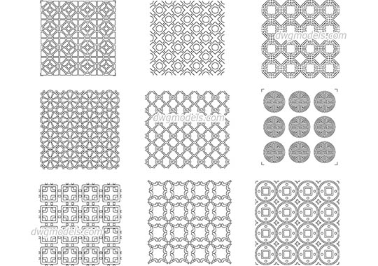 Chinese Pattern dwg, cad file download free