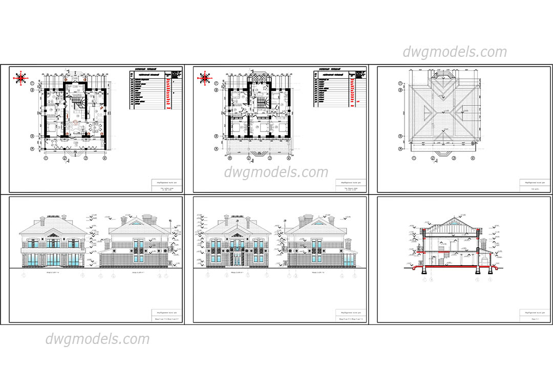 Family House 2 dwg, CAD Blocks, free download.