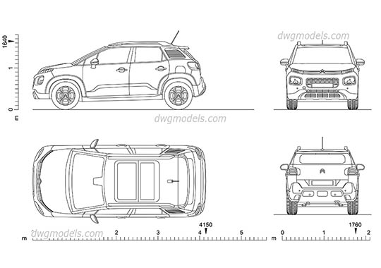 Citroen C3 dwg, cad file download free