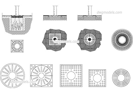 Streets grille 1 - DWG, CAD Block, drawing