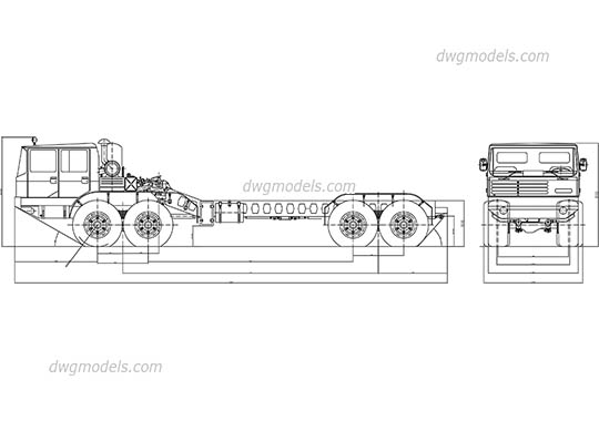 Military Truck free dwg model