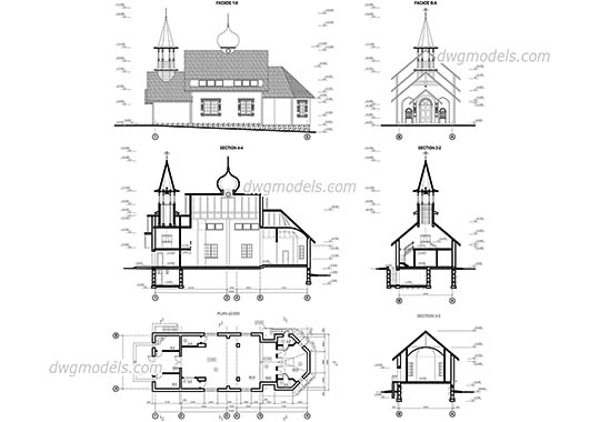 Orthodox Church dwg, cad file download free