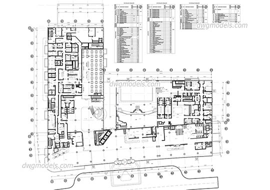 Hotel Ground Floor Plan free dwg model