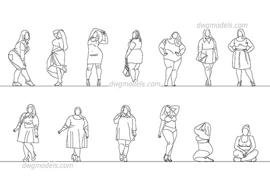 Big Women free dwg model