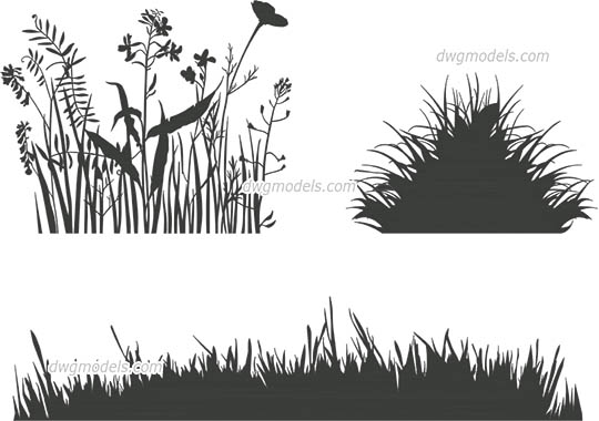 Grass Decor free dwg model