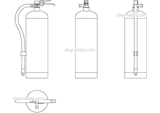 Fire Extinguisher dwg, cad file download free