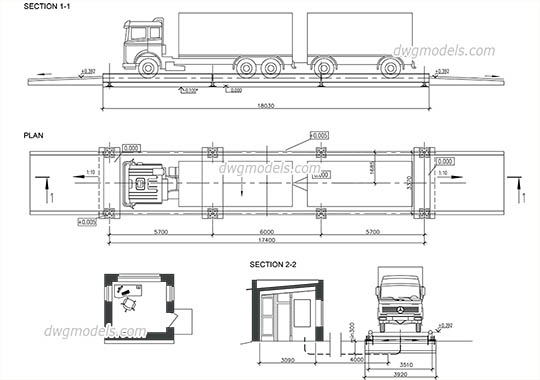 Trucks CAD Blocks, free DWG models