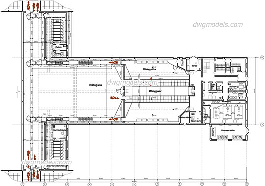 Dairy Farm dwg, cad file download free