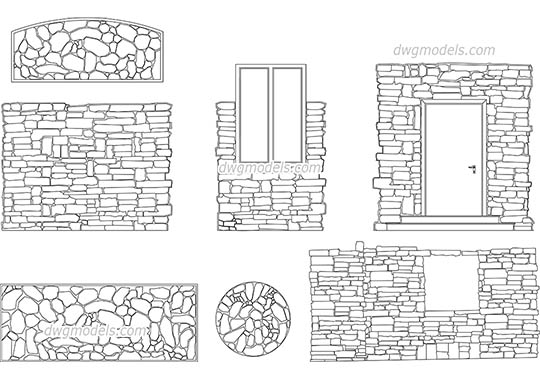 Stone Masonry dwg, cad file download free