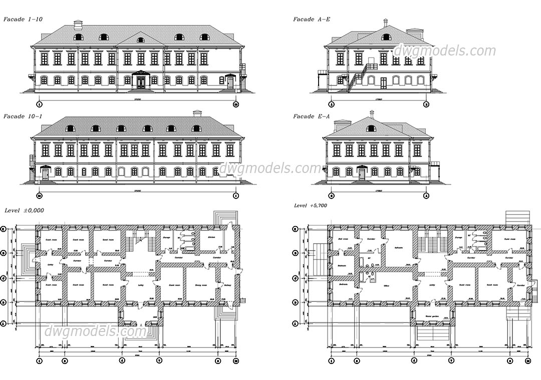 Monastery dwg, CAD Blocks, free download.