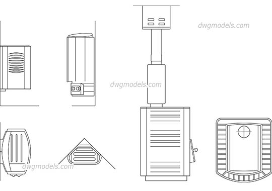 Sauna Stove dwg, cad file download free