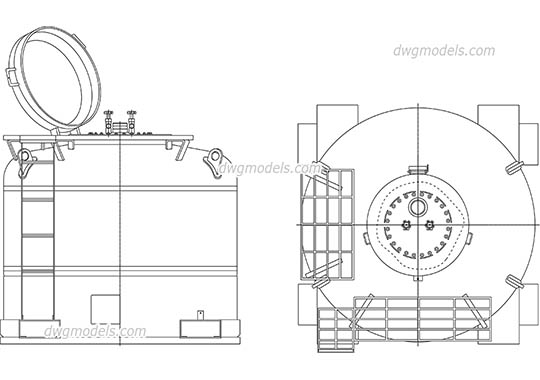 Fuel Tank dwg, cad file download free