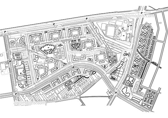 City Planning dwg, cad file download free