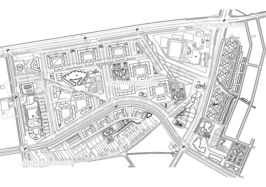 City Planning dwg, CAD Blocks, free download.