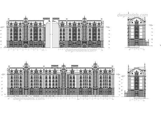 Classic Facades dwg, cad file download free