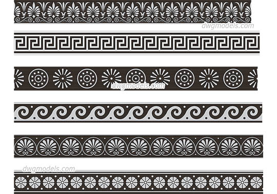 Greek Pattern dwg, cad file download free
