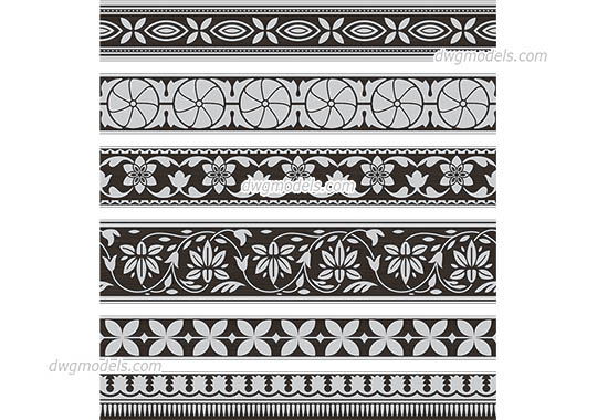 Indian Pattern dwg, cad file download free