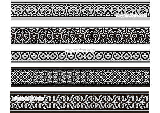 Byzantine Pattern dwg, cad file download free