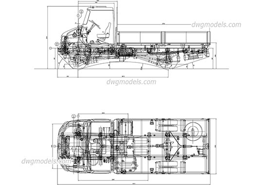 ZIL-5301 dwg, cad file download free