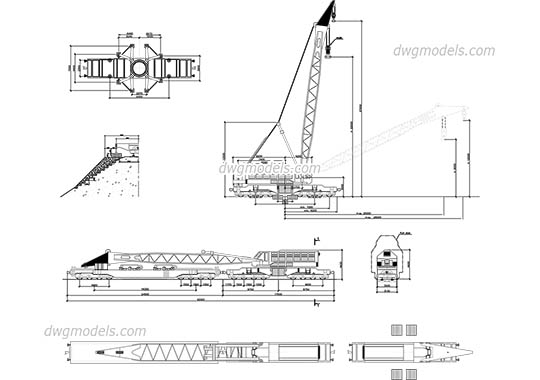 Crane Rail dwg, cad file download free