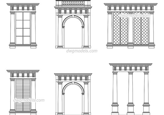 Doric Order dwg, cad file download free