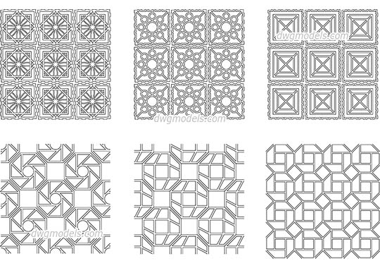 Seamless Geometrical Pattern dwg, cad file download free