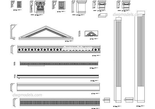 Architectural Elements free dwg model