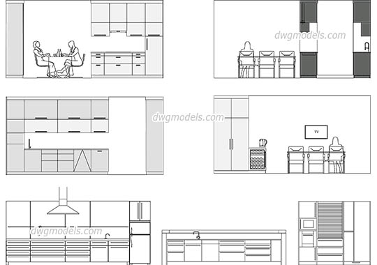 autocad furniture 2d dwg free download