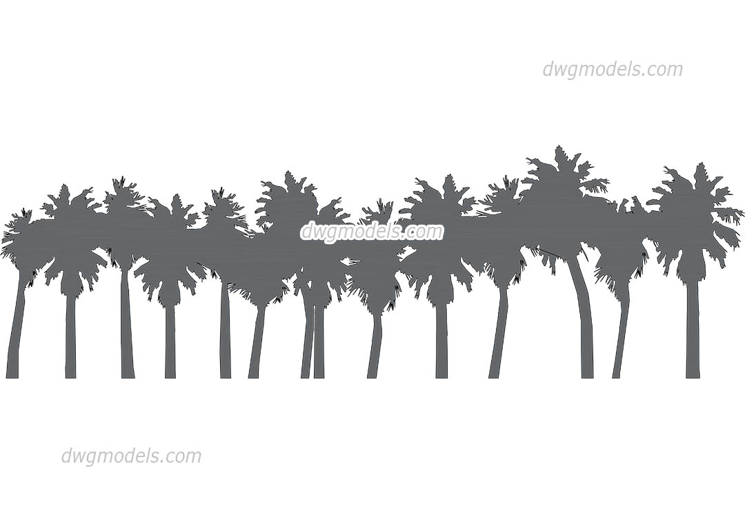 Palm Grove dwg, CAD Blocks, free download.
