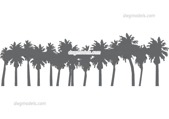 Palm Grove - DWG, CAD Block, drawing