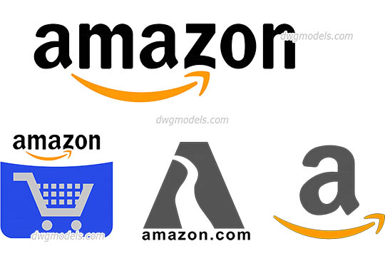 Amazon Logo - DWG, CAD Block, drawing