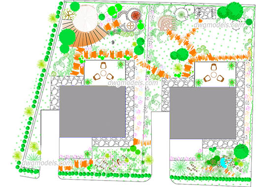 Architectural Site Plan - DWG, CAD Block, drawing