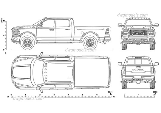 Dodge Ram Power Wagon AutoCAD blocks