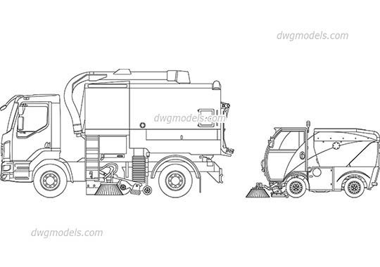 Street Sweepers AutoCAD blocks