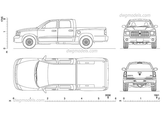 Dodge Dakota free dwg model