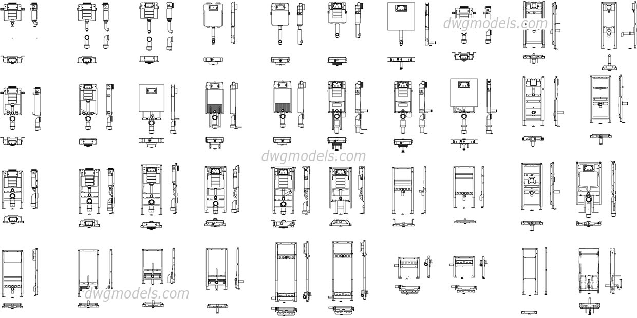 Geberit Sanitary Systems - CAD library, DWG Blocks