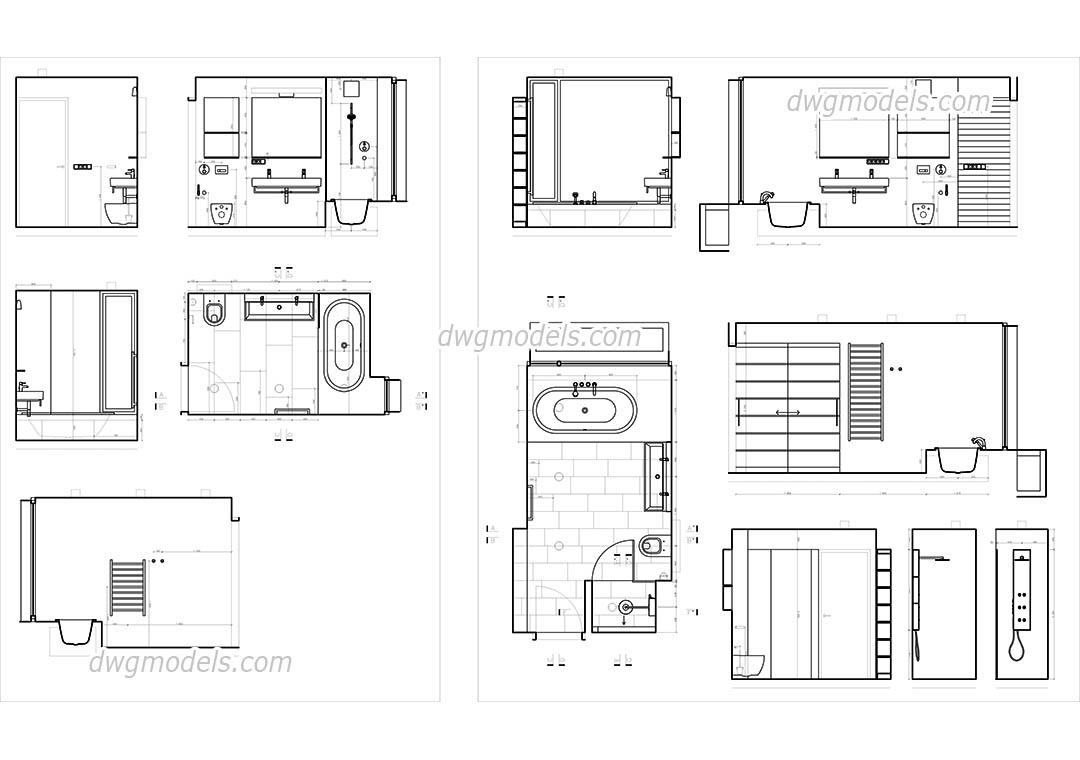 Bathroom Design CAD blocks