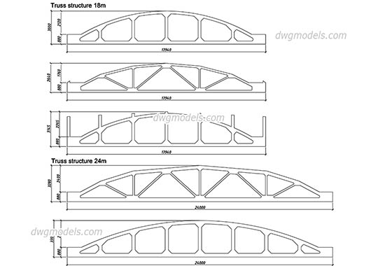 Truss Design dwg, cad file download free