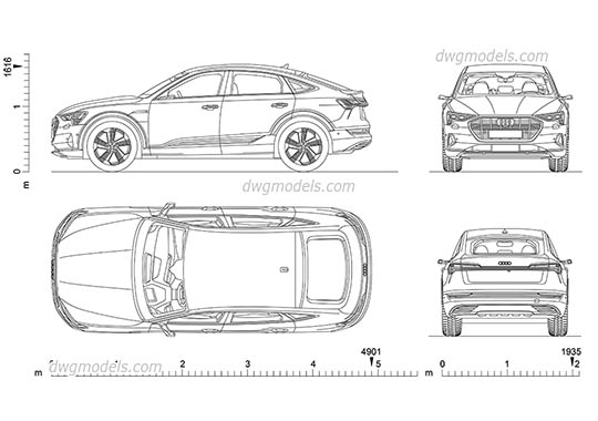 Audi e-tron Sportback dwg, cad file download free