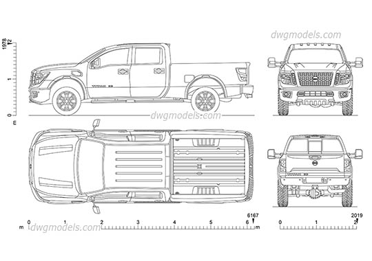 Nissan Titan XD dwg, cad file download free
