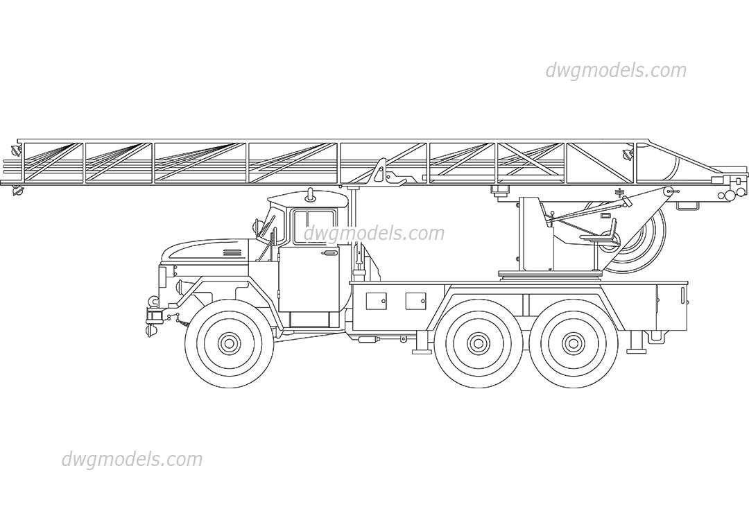 Old Fire Truck dwg, CAD Blocks, free download.