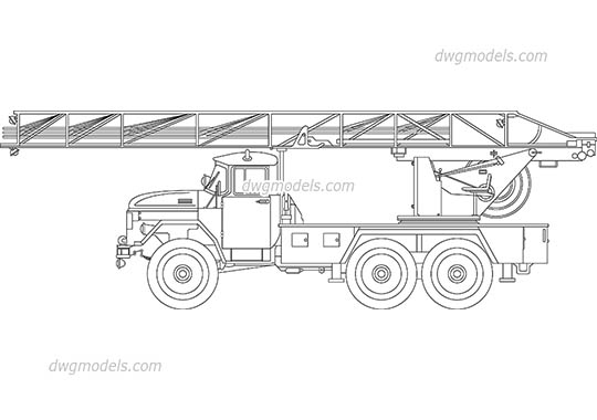 Old Fire Truck dwg, cad file download free