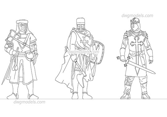 Medieval Knights dwg, cad file download free