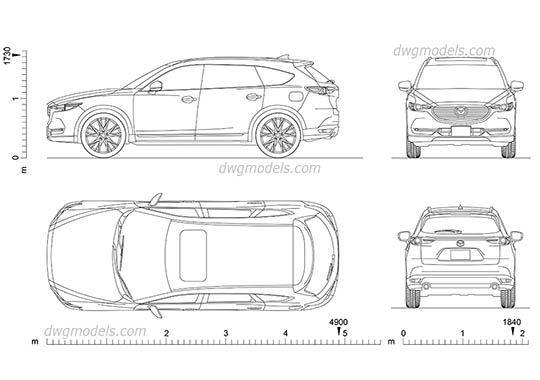Mazda CX-8 dwg, cad file download free
