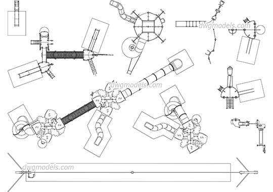 Playground Complex dwg, cad file download free