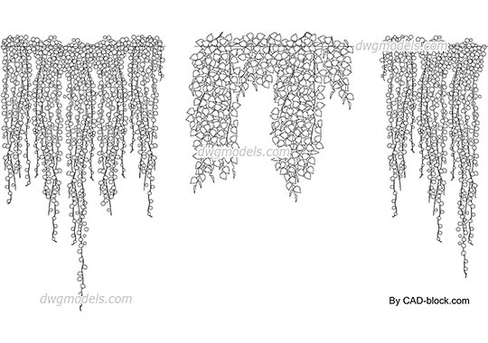 Hanging Plants dwg, cad file download free