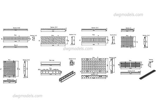 Metal Grill dwg, cad file download free